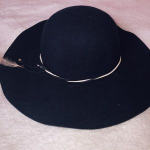 Navy Sunhat with Feathered Ties